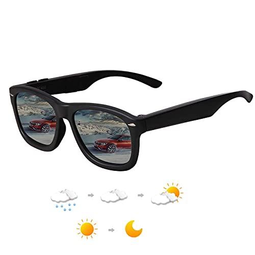 SKYWAY LCD Polarisierte Sonnenbrille, klassische Retro-Sonnenbrille für Damen/Herren, UV400-Schutz, 7-fach verstellbare Gläser