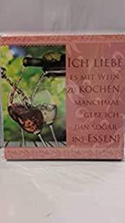 Geschirrtuch mit Spruch Ich liebe es mit Wein zu kochen. 10171/028 Handtuch Geschirrhandtuch …
