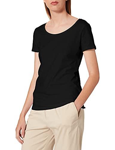 ESPRIT Damen 999Ee1K815 T-Shirt, Schwarz (Black 001), Large (Herstellergröße: L)