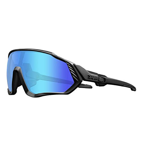 KAPVOE Cycling Glasses Polarized Men Women Youth MTB Sunglasses Motorcycle Golf Baseball Skiing (05)