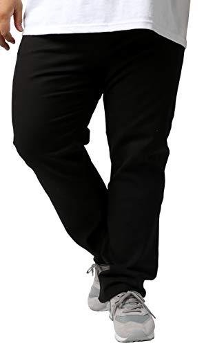 [ヘインズ] チノパン 大きいサイズ メンズ 父の日 ギフト パンツ チノパンツ ロングパンツ ストレッチパンツ ズボン ゆったり ワイド ブラック 97