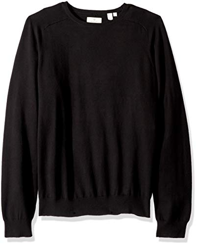 GANT Men's The Cotton Cashmere Crew Sweater, Black, M