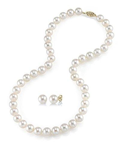 The Pearl Source 14 carati oro giallo Rotonda Coltivate in acqua dolce Perla