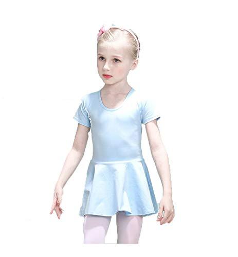 Schoonheidsweer voor meisjes meisjes meisjes meisjes balletjurk korte mouwen katoenen jurk dubbele hart uitsparingen Ginnastica Tutu danspak goedgekeurd Disco-jurk Skater Pe