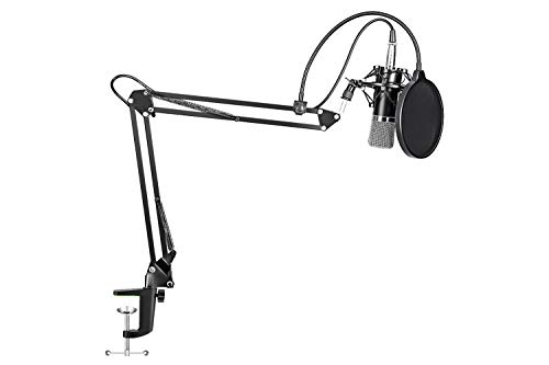 Maono Studio - Kit de micrófono XLR con brazo de resorte y filtro antipop