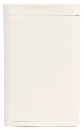 Dreams(ドリームズ) 携帯灰皿 ポケットアッシュトレイ スリム ハニカム 4本収納 ホワイト MDL45283 高さ7.9cm×幅5.0cm×厚さ1.4cm