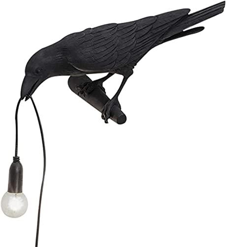 LED Uccello FortunatoLampada Da TavoloLampada Da Parete,Uccello Corvo Mordern Arte Comodino Arredamento, Per Soggiorno Decorazione Raven Fortunato Lampada Da Scrivania