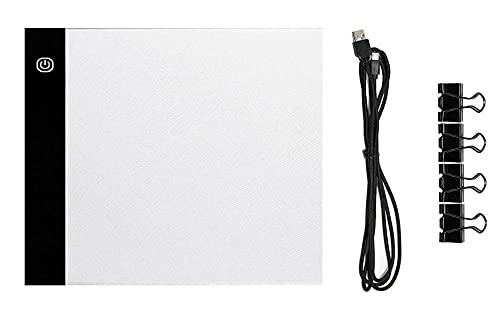 Caja de luz LED ultra fina A5, portátil, con almohadilla de trazado regulable, brillo ajustable para artistas, dibujo, trazado, animación, pintura de diamante 5D, con cable de alimentación USB