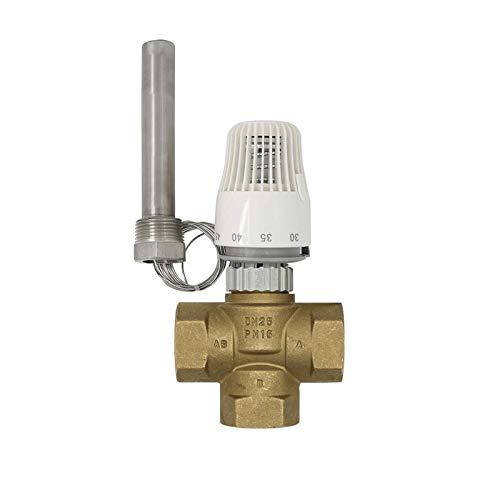 JCMY Válvula, Válvula Solenoide 30-70 Grado Control en Planta M30 Válvula termostática del radiador Sistema de calefacción * 1.5 válvula de Tres vías con Agua, Aire, etc. (Specification : Actuator)