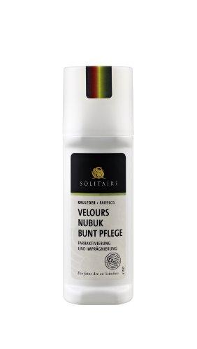 Solitaire Velours Nubuk Pflege Stic für Farbauffrischung und Imprägnierung + Rema Ersatz Schwammaufträger (Zartrosa 14)