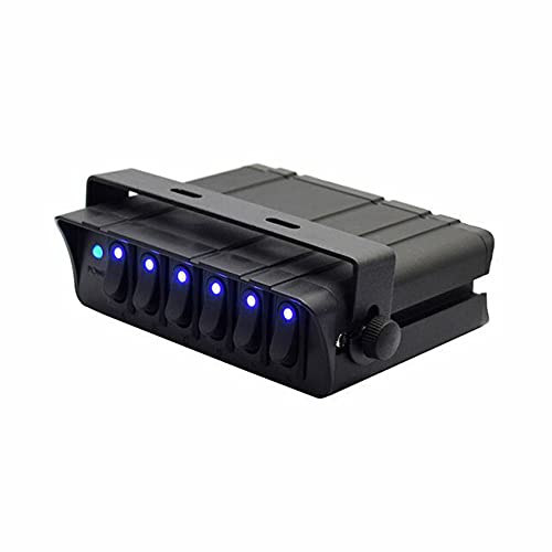 Panel de interruptores basculantes con retroiluminación LED de 80 amperios, 6 Bandas / 40 amperios, Caja de interruptores de Encendido/Apagado de 4 Bandas para Accesorios de vehículos automotrices