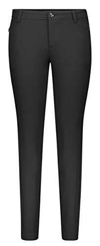 MAC Jeans Damen Angela Pipe Clean Skinny Jeans, Schwarz (Black 090), W44/L32