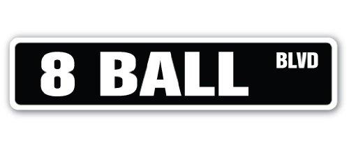 SignMission 8Ball Street Schild Billard Pool Queue Pooltable Darts-| | 61cm Breit, Small