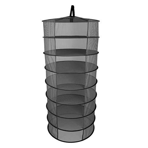 CHOUCHOU MultifuncióN Cabilock 8 Capas Plegable portátil 60 cm Organizador de Almacenamiento de Malla Red de Secado Neto Estante Estante for Planta jardín Pesca Picnic