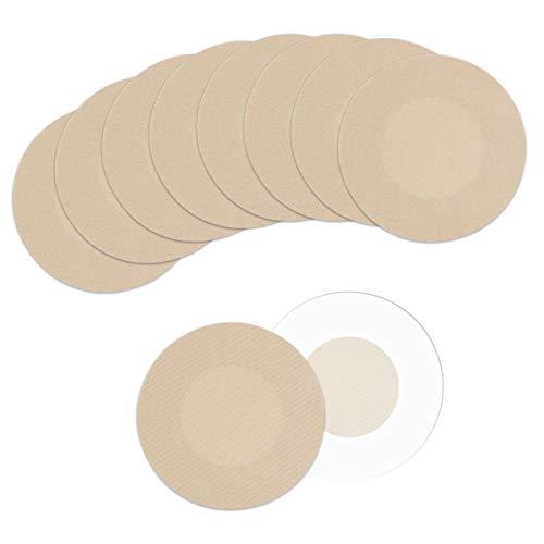 Copricapezzoli - Copri Capezzoli Donna, 10/20 Coppie Adesivo Copricapezzoli Non Tessuto Monouso Invisibile Petalo Seno Copre Nastro (Beige)