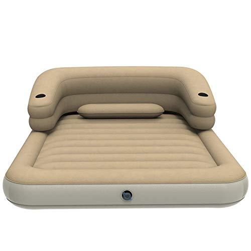 Guoziya Air Matelas Matelas Camping en Plein Air Dossier Coussin Gonflable Matelas Gonflable Voyage Bed SUV Universal Gratuit Pliant Sleeping Air Lit (Couleur : Beige(203 * 120 * 22cm))