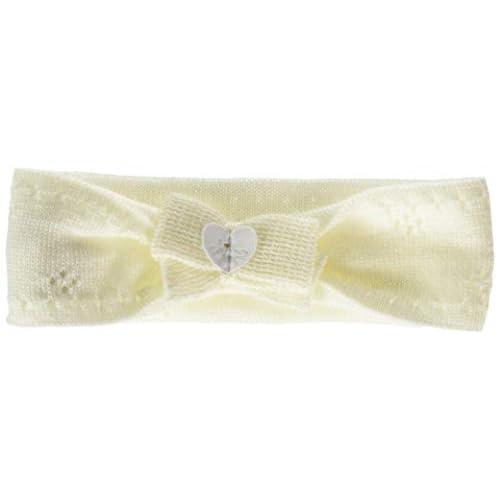 Chicco Fascetta per Capelli Bandana, Bianco (Naturale 030), Neonato (Taglia Produttore:001) Bimba