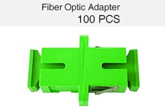 AJW(A.J.WORLD) ADAPTER Fiber Optic Adapters Coupler Simplex Single-mode SC/APC to SC/APC 100 Pcs
