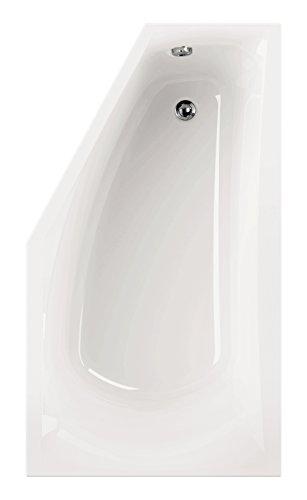 'aquaSu® I Acryl - Badewanne corDia I 160 x 90 cm I Weiß I Links I Wanne I Badewanne I Bad I Badezimmer