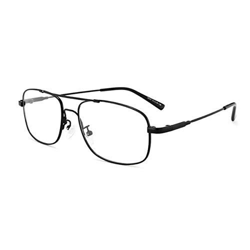 LGQ Gafas de Lectura para Hombres, Gafas de Sol fotocromáticas Inteligentes para Exteriores, Lentes de Resina HD, dioptrías de aleación de Marco Comercial +1,00 a +3,00,Negro,+2.25