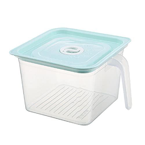 Frigorífico de gran capacidad fresco Mantenimiento de almacenamiento Caja de almacenamiento Comida de cocina Jarra sellada,Green