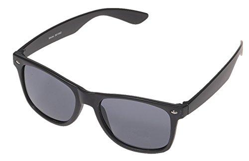 Miobo Kinder Party Brille 1980 Style Retro Atzen Nerdbrille Hornbrille Sonnenbrille und Klarglas Party Brille 1980 Style Retro Atzen Wayfarer Nerdbrille Hornbrille Schwarz Sonnenbrille