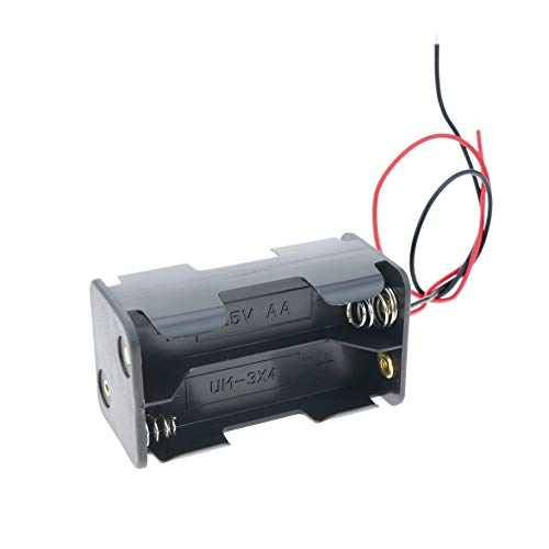 BeMatik - Portapilas para 4 pilas LR6 AA 1.5V (EN080)