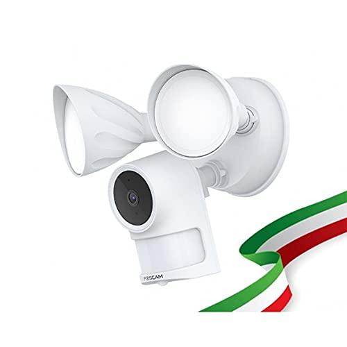 Foscam F41 Cámara IP Wifi Dual con faro LED integrado 4 megapíxeles Wifi Dual 2.4/5 GHz HD 2K visión nocturna y alarma
