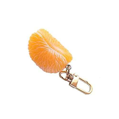 Llavero De Frutas 1pc Lindo Fresa Naranja Pequeño Colgante Mini Simulación Llavero Llavero Llavero Regalo Colgante Escolar Bolsa Ornamento (Color : Orange, Size : A)