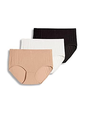Jockey Women's Underwear Supersoft Breathe Brief - 3 Pack, Black/Ivory/Light, 6