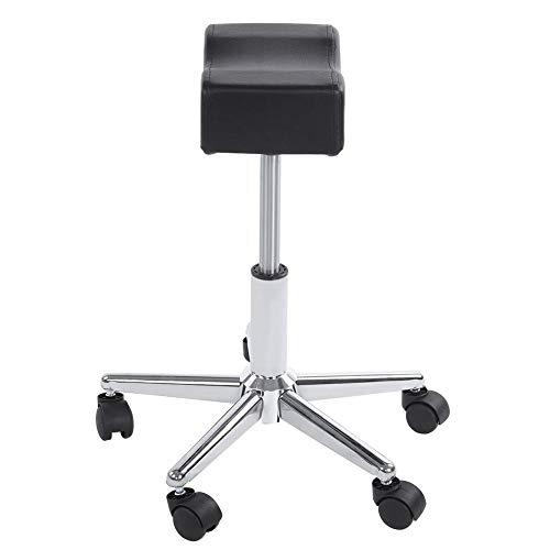 Verstellbarer Stuhl, höhenverstellbarer Rollstuhl Bequemer Sitzkissenhocker mit beweglichen Rädern