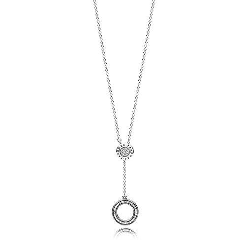 Pandora Collar en forma Y Mujer plata - 397445CZ-70