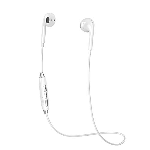 Bluetooth Headphones, COOLCAT Wireless Running Earbuds Bluetooth Best Sports Sweatproof Noise Canceling Headset w/Mic Compatible with Samsung Galaxy S9/S8/S7 and More (Silver Whit)