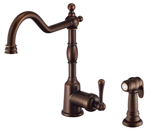 Danze D401157BR Kitchen Faucet, Tumbled Bronze