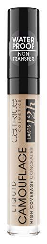 Catrice Liquid Camouflage High Coverage Concealer, Abdeckstift, hält 12 Stunden, Nr. 020 Light Beige, nude, für Mischhaut, für unreine Haut, langanhaltend, ölfrei, wasserfest, ohne Alkohol (5ml)