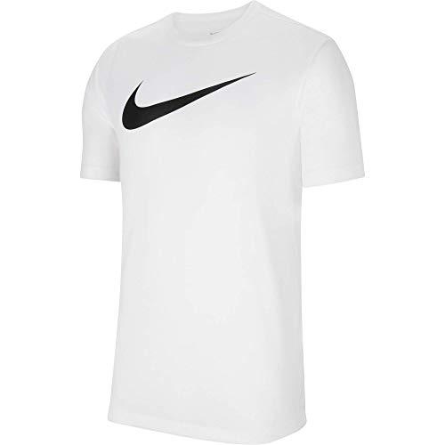Nike Mens Team Club 20 Tee T-Shirt, White/Black, S