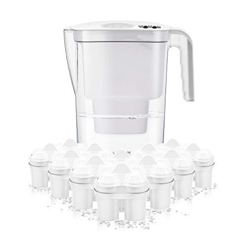BWT Wasserfilter VIDA 2,6 l weiß inkl. 12 Filterkartuschen Soft Filtered Water inkl. 1 Kartusche Magnesium Mineralized Water | Kalkschutz für Ihre Haushaltsgeräte | Jahresvorrat