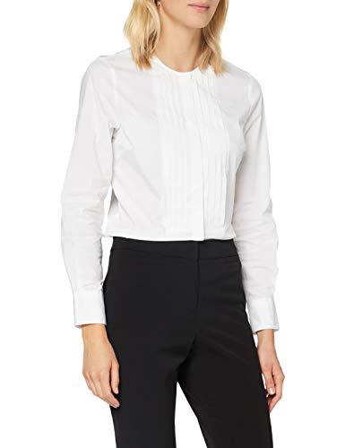 Sisley Shirt Camicia, Weiß 101, XL Donna