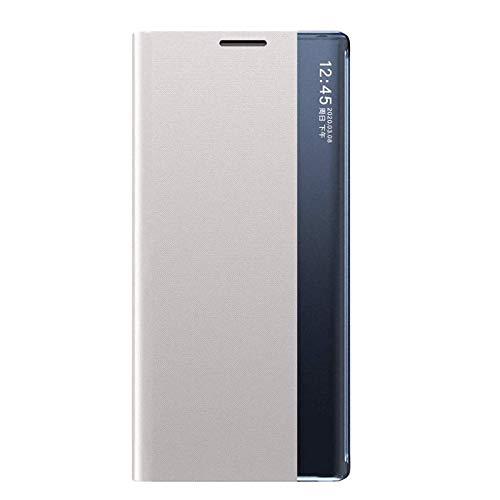 Hülle für Huawei Mate 20 Lite Klapphülle mit Sicht-Fenster Window,Tasche Schutzhülle Flip Handy Case(Bracket-Video) Kompatibel mit Huawei Mate 20 Lite, Mehrere (Weiß)