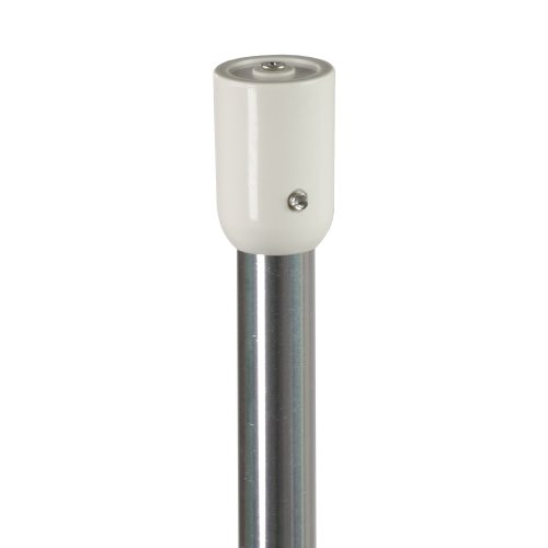 Liedeco Winkelstange ohne Ringe| Duschvorhang | Aluminium 20 mm