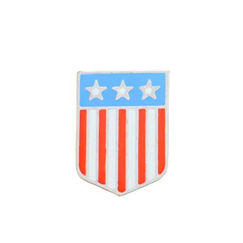 Flaggen Emaille Pin Sterne und Streifen Broschen Geschenk Abzeichen Button Revers Schmuck Kleidung Jeans Cap Bag-Style1