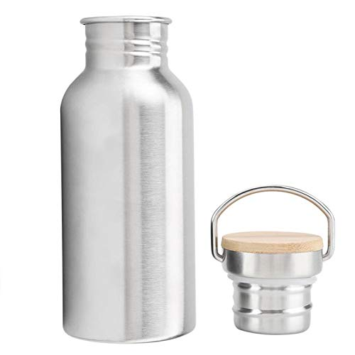 01 Botella de Agua de Acero Inoxidable, Taza Termo de café Botella de Acero Inoxidable, Buen Sellado Suave Ciclismo para Acampar para Hacer Senderismo Picnic(500 ml)