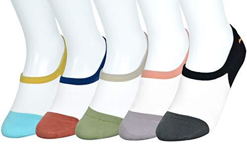 sigando Damen Motiv Sneaker Socken (5 Paar), Kurze süße Söckchen mit Mustern M-C