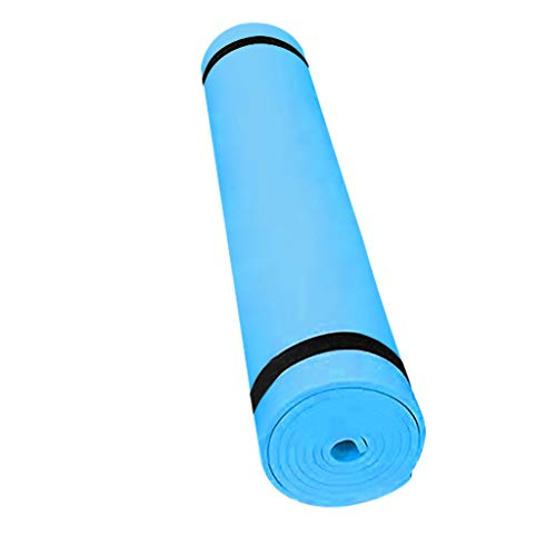 LIUguoo Yoga Mat 4MM EVA Thick Non Slip Exercise and Fitness Mat for All Types of Yoga, Pilates and Floor Workouts (Blue)