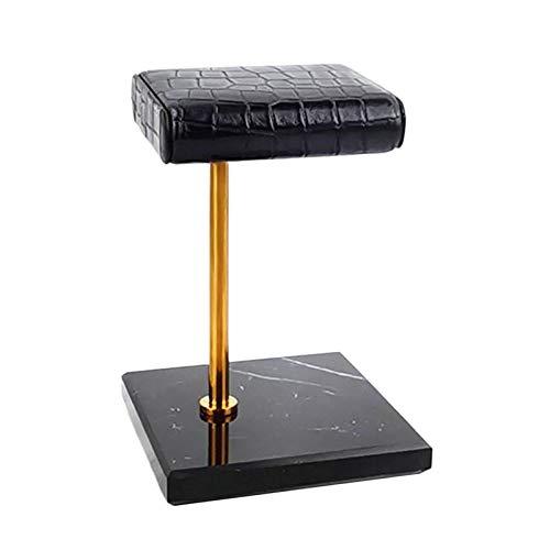 Hellery Marmor Base Uhrenhalter Display Stand für Schmuck Armband Armreif Uhr Armband Organizer - Schwarz und Golden, 10x10x15cm