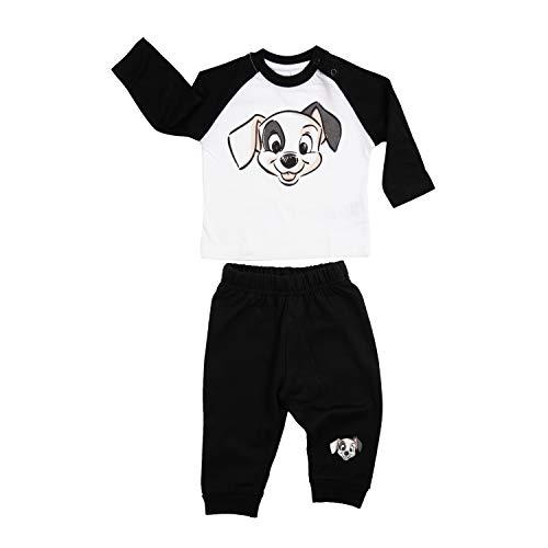 Disney 101 Dalmatiner Unisex Baby Set Oberteil Pullover mit Hose 2-Teiler Schwarz/Weiß Gr. 86-92