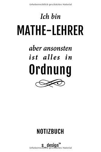 Notizbuch für Mathe-Lehrer: Originelle Geschenk-Idee [120 Seiten kariertes blanko Papier] _