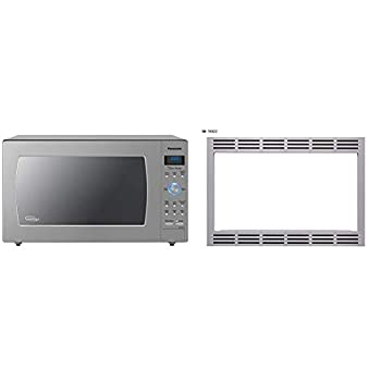Panasonic Countertop/Built-In Microwave Oven with Cyclonic Wave Inverter Technology and 1250W of Cooking Power - NN-SD975S - 2.2 Cu Ft  Stainless Steel/Silver  & 27 TRIM KIT 27 inch Silver
