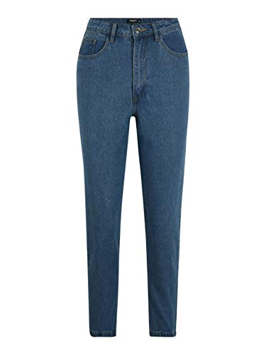 Missguided (Petite) Damen Jeans RIOT Blue Denim 12 (30-31)