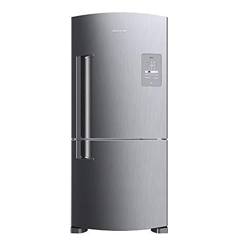 Geladeira Brastemp Frost Free Inverse 573 litros cor Inox com Smart Bar 110V
